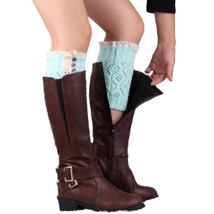 la jambe de botte tendent des femmes Tonsee®Les lacent H9IE2D