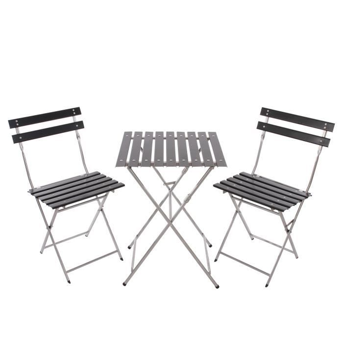 Ensemble table et chaise de jardin pliante achat vente for Ensemble table et chaise de jardin