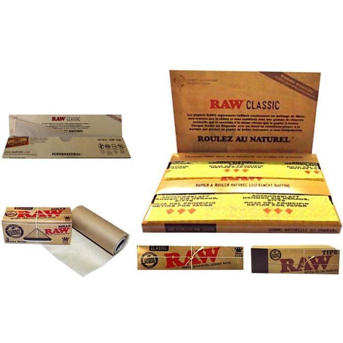 Lot Feuilles Slim Cartons Raw Fumeur Objet Fumer Accessoire Original