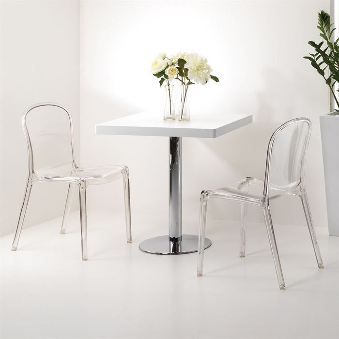 Mobilier table chaise en polycarbonate transparent - Chaises en polycarbonate ...