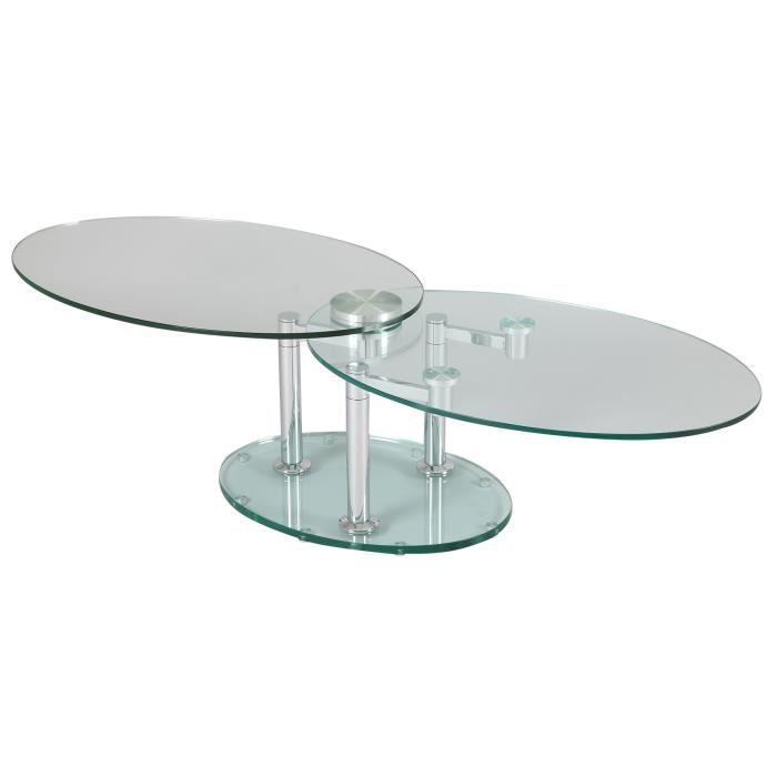 table basse avec plateau en verre trempe transparent achat vente pas cher. Black Bedroom Furniture Sets. Home Design Ideas