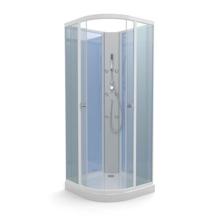 aurlane cabine de douche blue yoda 85x85cm achat vente douche receveur cabine blue yoda. Black Bedroom Furniture Sets. Home Design Ideas