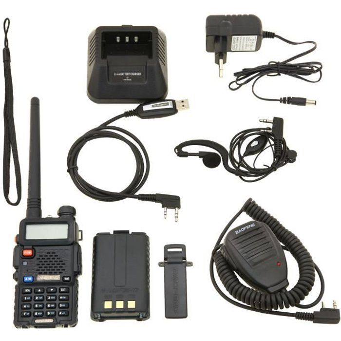 TALKIE-WALKIE Baofeng UV-5R Talkie-walkie FM radio VHF/UHF