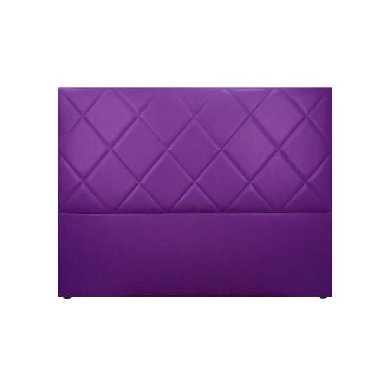 t te de lit design sally violet 160 x 120 achat vente t te de lit t te de lit design sally. Black Bedroom Furniture Sets. Home Design Ideas