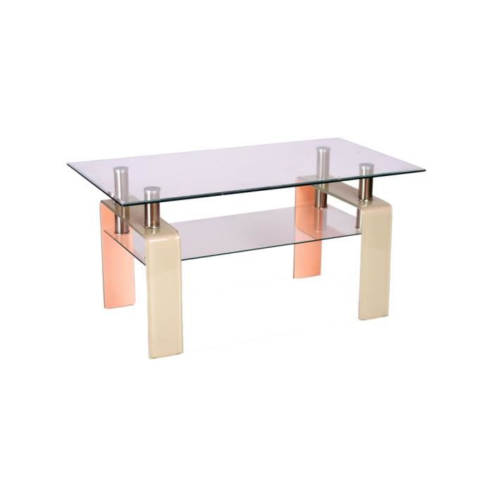 Justhome stella table de salon table basse couleur for Table basse laquee beige