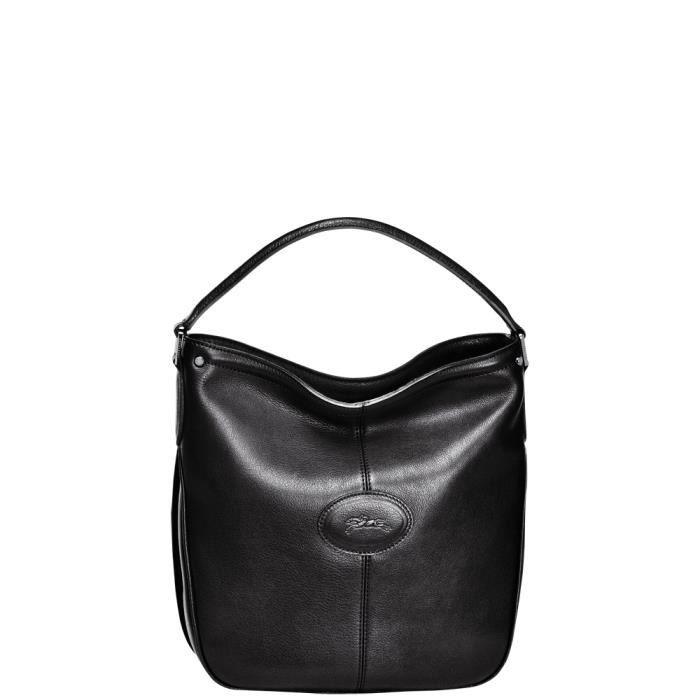 LONGCHAMP - sac femme porté épaule en cuir - NOIR MYSTERY - Achat ...
