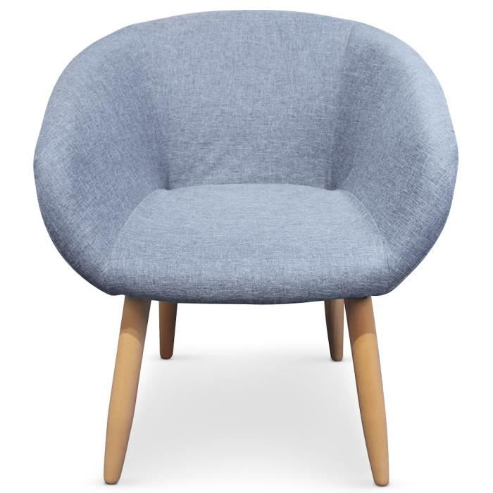 chaise fauteuil style scandinave frost bleu - Chaise Style Scandinave