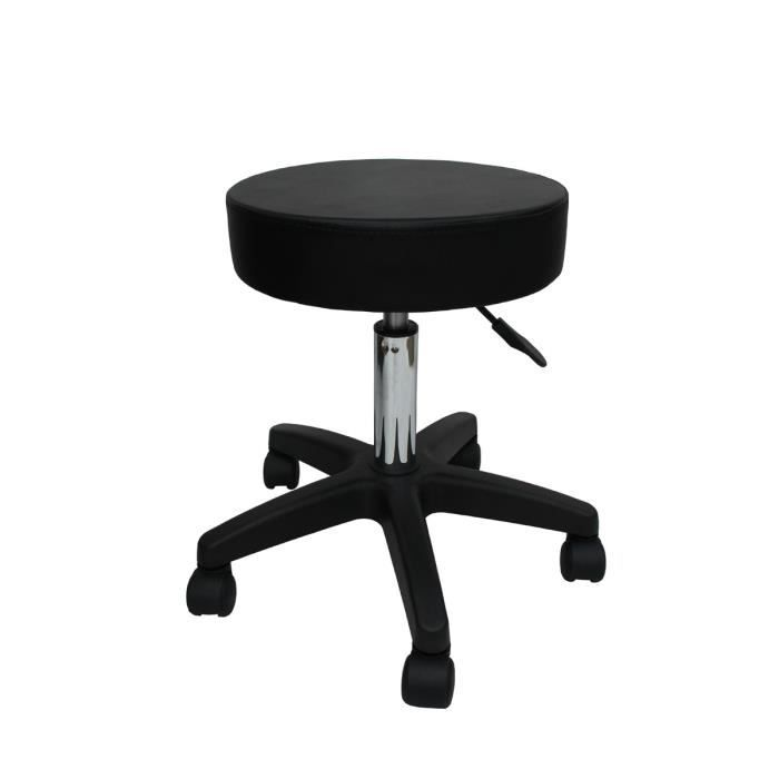 tabouret de bureau a roulettes tabouret de bar tabouret de massage tabouret osteopathe noir. Black Bedroom Furniture Sets. Home Design Ideas
