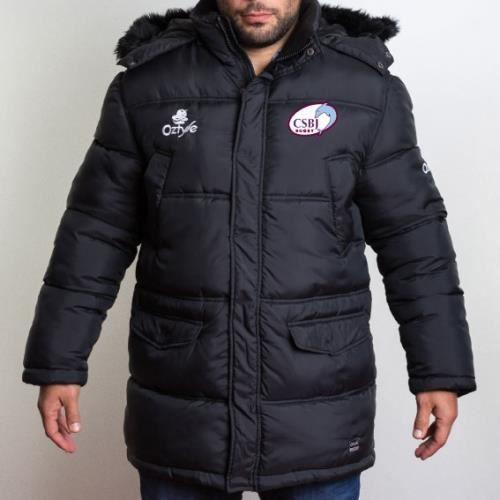 Parka matelasse Scrum CSBJ Bourgoin Rugby Pro D2 Noir Noir