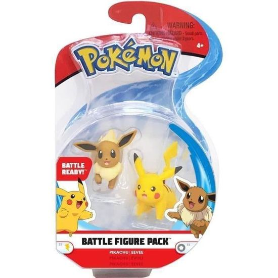 POKEMON - Pack de 2 figurines 3-5 POKEMON - Pack de 2 figurines ...