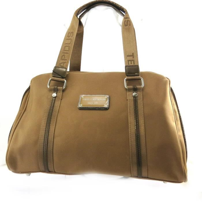 Ted Lapidus [M8643] - Sac bowling Ted lapidus camel