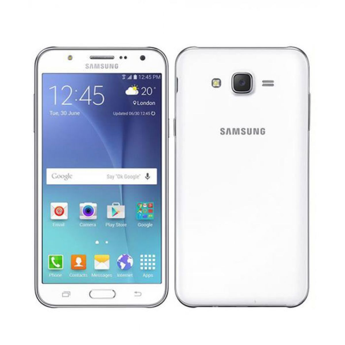 samsung galaxy j7 white dual sim achat smartphone pas. Black Bedroom Furniture Sets. Home Design Ideas
