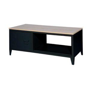 TABLE BASSE LIVERPOOL Table basse rectangle avec niche et tiro