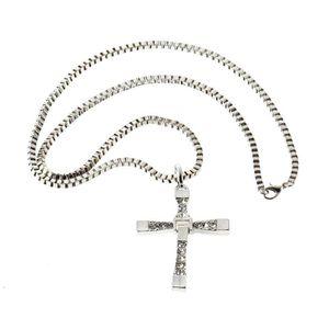 PENDENTIF VENDU SEUL Collier Pendentif + Chaine Croix Fast and Furious