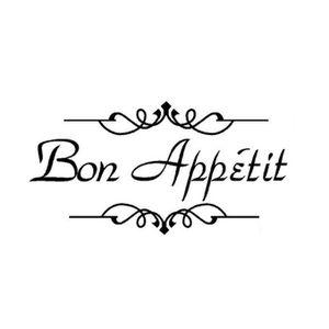 STICKERS Bon appétit sticker mural cuisine salon sculpté -