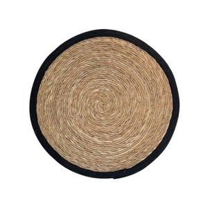 TAPIS Estello - Tapis en fibres naturelles noir - Dimens