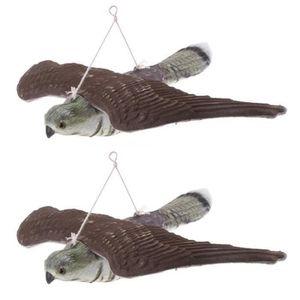 PIÈGE NUISIBLE MAISON QX 2 X Epouvantail Faucon Figurine Leurre Chasse J
