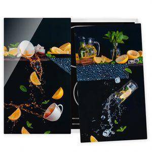 PLAQUE INDUCTION Couvre plaque de cuisson - Citrus Splash - 52x60cm