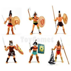 FIGURINE - PERSONNAGE Set/6pcs Figurine Gladiateur Guerrier Combattant R