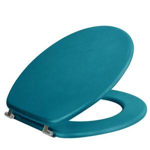 ABATTANT WC Abattant WC Morea Turquoise en MDF