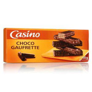 BISCUITS CHOCOLAT Gaufrettes enrobées de chocolat - 150 g