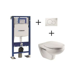 WC - TOILETTES Pack complet WC suspendu Bâti-support GEBERIT UP 3