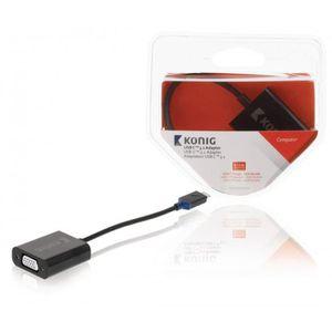 AUTRE PERIPHERIQUE USB  KONIG Adaptateur USB-C Male - VGA Femelle Anthraci