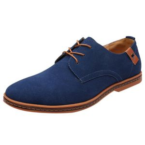 MOCASSIN Mode Casual Lace Up solide Oxfords Chaussures en c