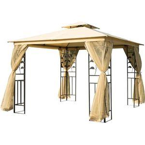 TONNELLE - BARNUM Tonnelle barnum style colonial double toit toiles