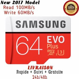 CARTE MÉMOIRE Carte Mémoir Samsung Evo Plus 64 Go Micro sd SDXC