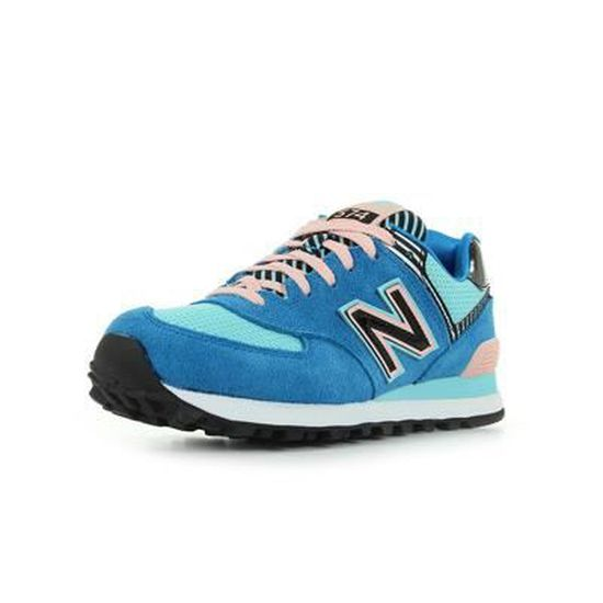 basket new balance wl574 bleue femme