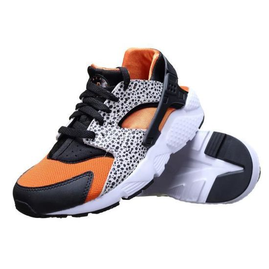 cf0ce1b657c66 Nike Huarache Run Safari Orange - Achat   Vente basket - Cdiscount