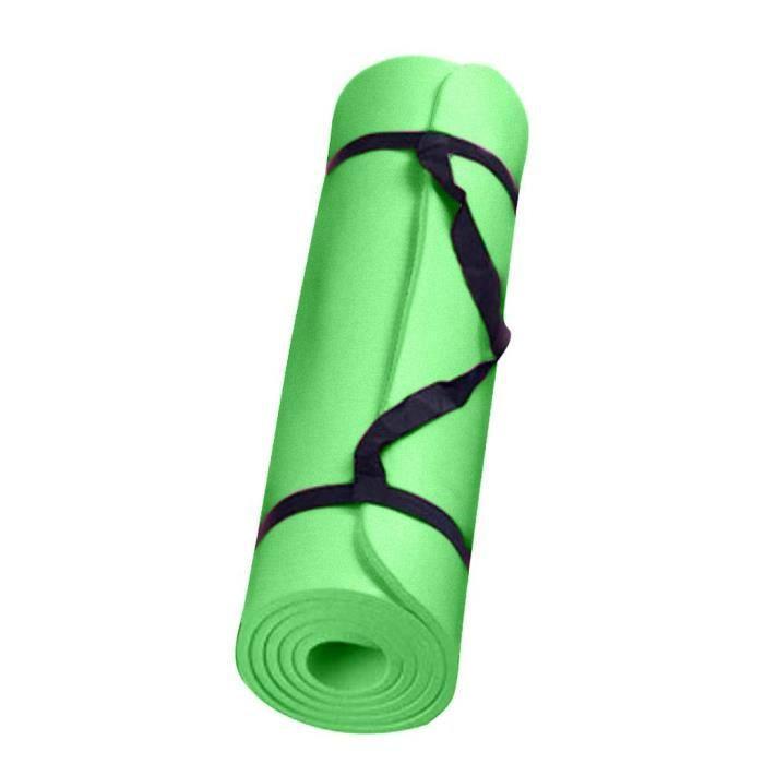 Tapis de yoga épais et durable Tapis de sport antidérapant Tapis antidérapant pour perdre du poids vert _sco271