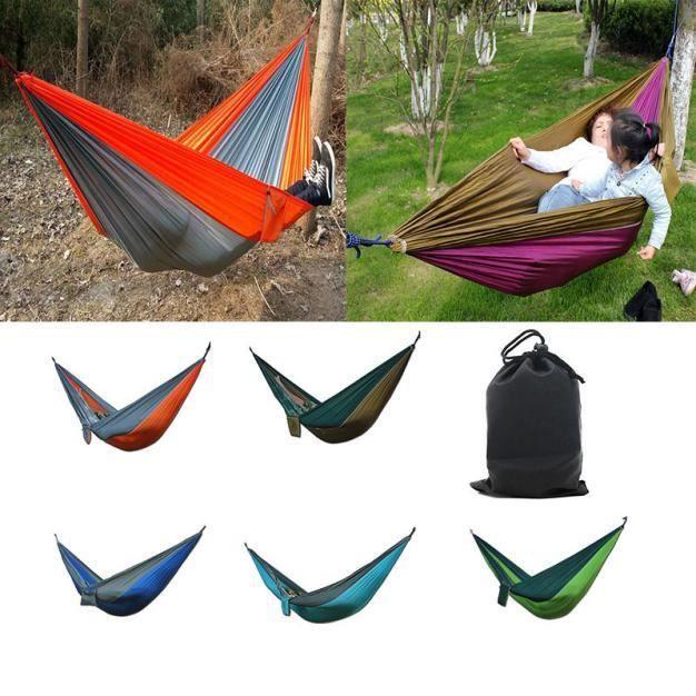 YJL60718765 Toile Jardin Hamac Camping Plage Voyage Portable Tissu Balançoire Bed NOUVEAU