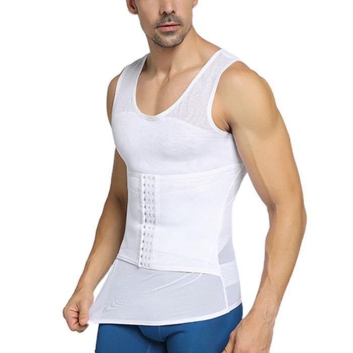 Gilet de contrôle du ventre réglable pour hommes, fermeture des yeux, crochet, entraîneur de taille, amincissant, ventre [E804003]