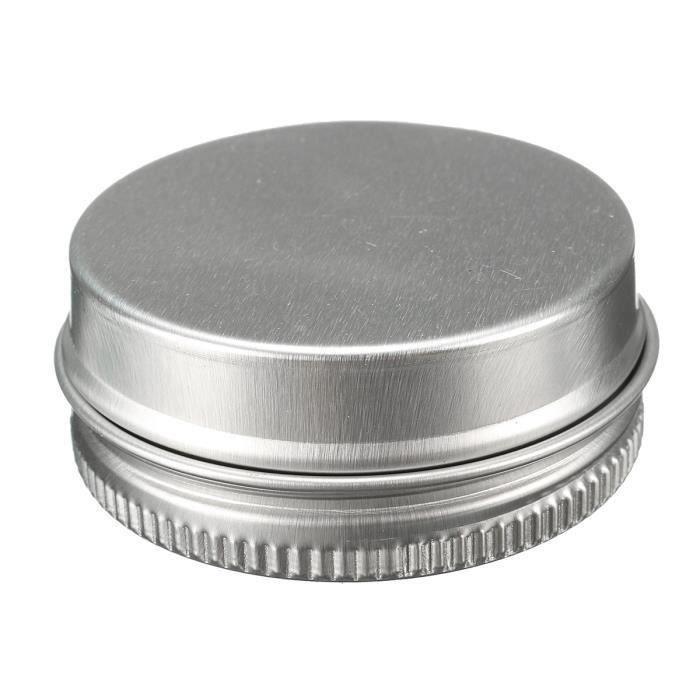 10pcs Cosmétique Bouteille Pot Boîte Vide Crème Maquillage Aluminium 15ML L08433