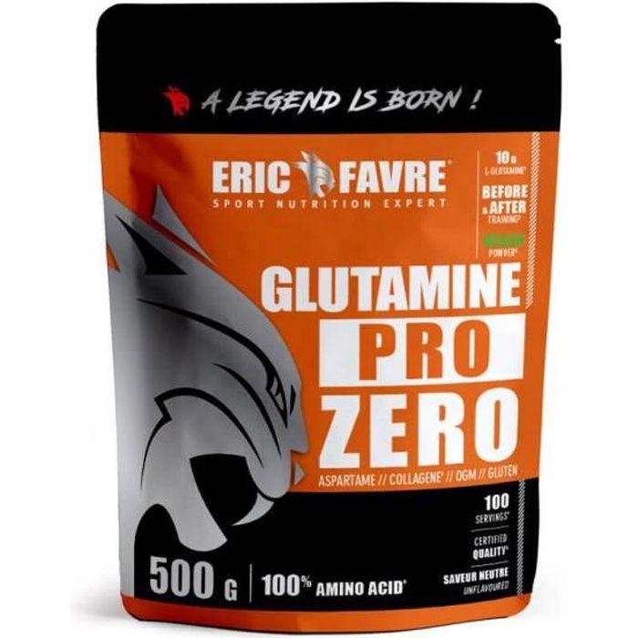 L-GLUTAMINE PRO ZERO ACIDES AMINÉS VEGAN - Poudre Musculation - Goût Neutre - Laboratoire Français Eric Favre
