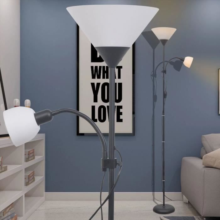 Lampadaire pour Salon 180x22,5cm Noir -PAI