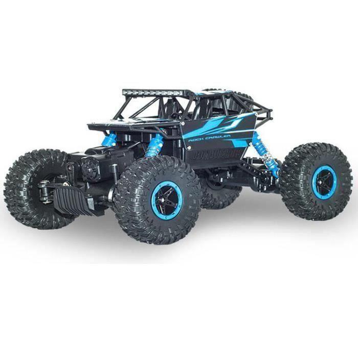 RC Voiture Télécommandé 4x4 véhicules tout terrain 4WD Échelle 1:18 2.4 GHz Remote Control Voitures thermique enfant Buggy Blue
