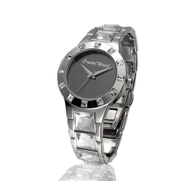 Montre Crystal Watch et Cristal de Swarovski Element blancs