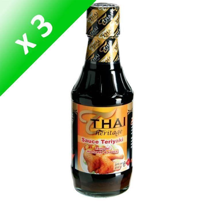 [LOT DE 3] Sauce Teriyaki 210G THAI HERITAGE