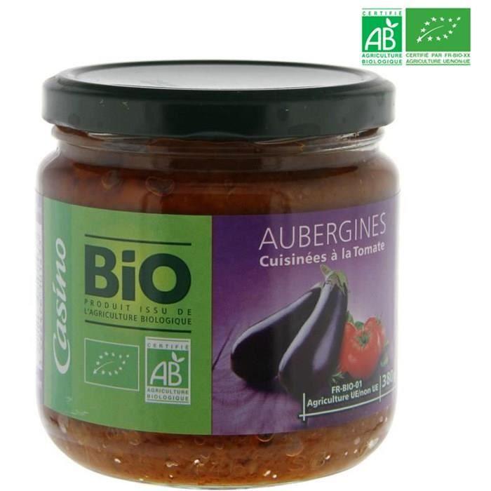 Aubergines provencale Bio - 380g