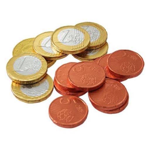 Filets de 'Pièces Euros' en Chocolat (lot de 10)