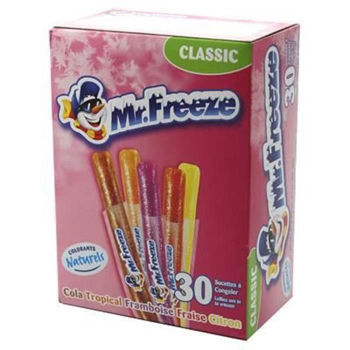BRABO Sucettes à congeler Cool Pop Mr Freeze Classic, goût assortis - 600 ml