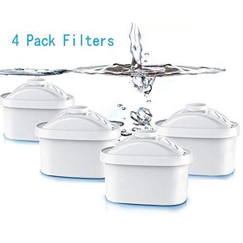4Pcs Cartouche Filtrante Fit Brita Maxtra Carafe filtre à eau Cruche Cartouches Fit Brita Maxtra Cruchede Mavea Maxtra, Elemaris