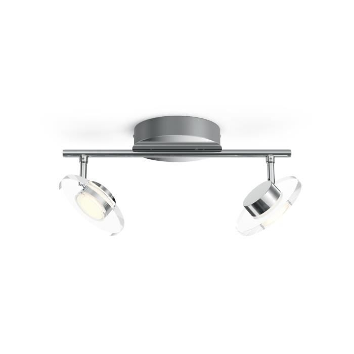 Philips myLiving 5044211P0, Surfaced lighting spot, 2 ampoule(s), LED, 4,5 W, 1000 lm, Chrome