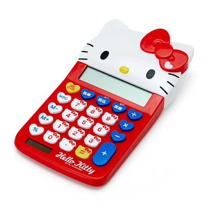 Japon sanrio hello kitty calculatrice fille migon rouge