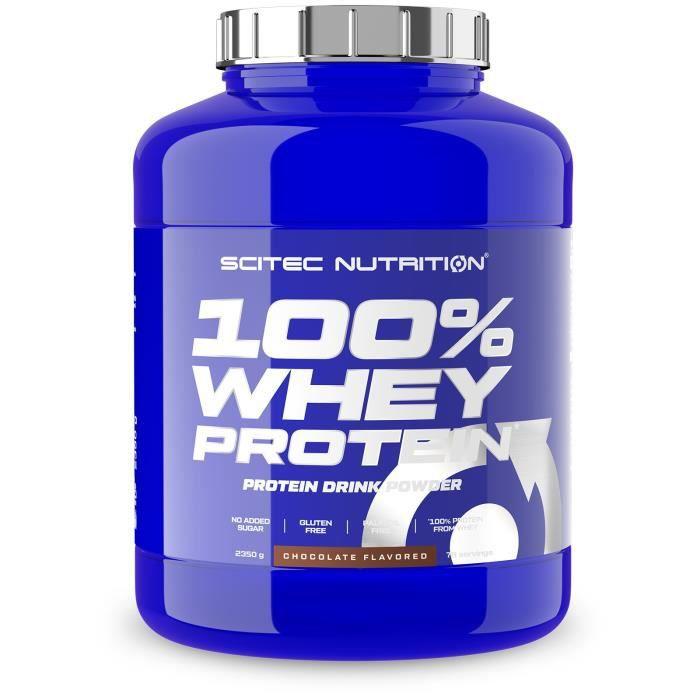 100% WHEY PROTEIN 2350g CHOCOLAT - Scitec Nutrition Proteine