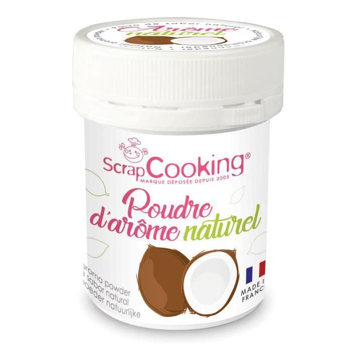 Arôme alimentaire naturel en poudre Noix de coco - Scrapcooking {couleur}