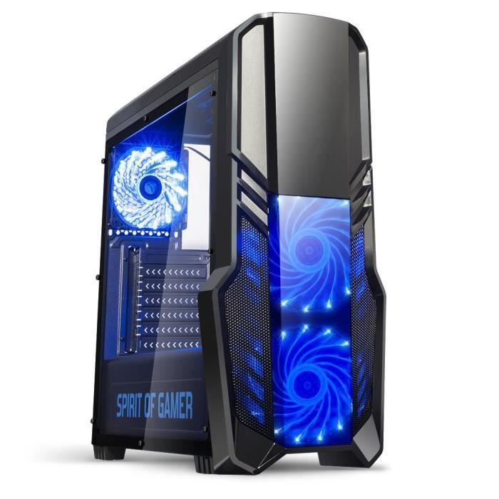 SPIRIT OF GAMER Boîtier PC Gamer Rogue II - Bleu